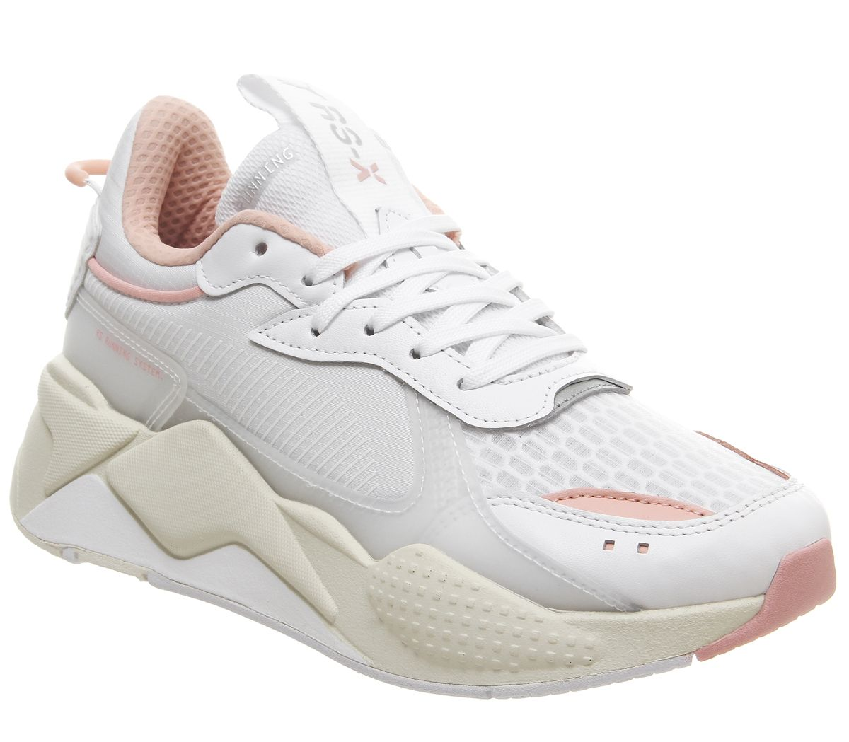 1a6a87aae32ee9 Puma Rs-x Tech Trainers White Peach - Hers trainers