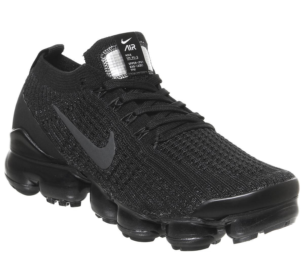 Atravesar Elaborar patrón  Nike Air Vapormax Fk 3 Trainers Black Anthracite White Metallic Silver F -  Hers trainers