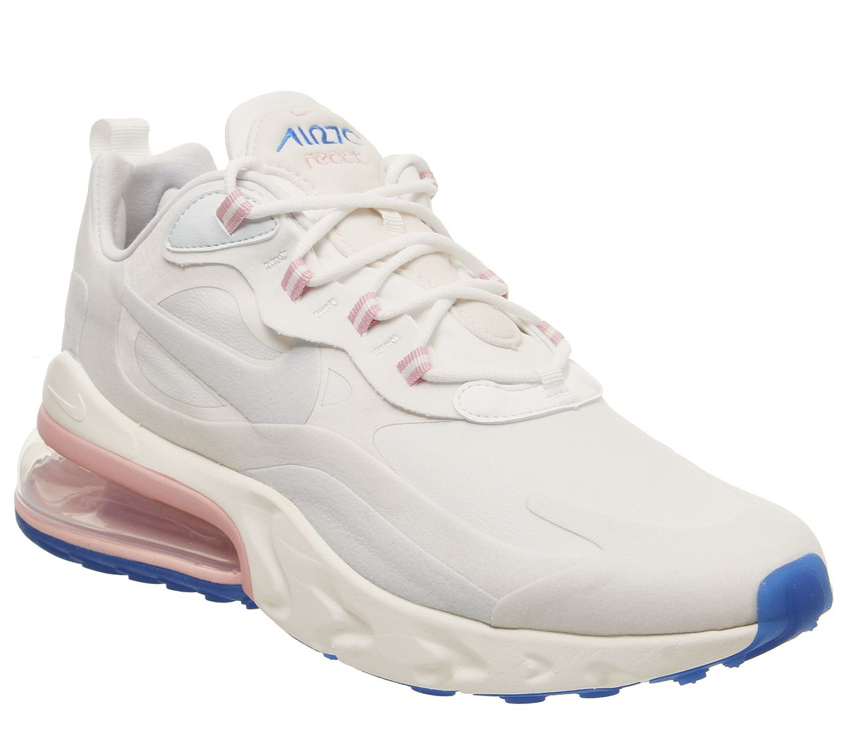 uk availability 4209d e6470 Nike Air Max 270 React Trainers White Ghost Aqua Phantom M ...