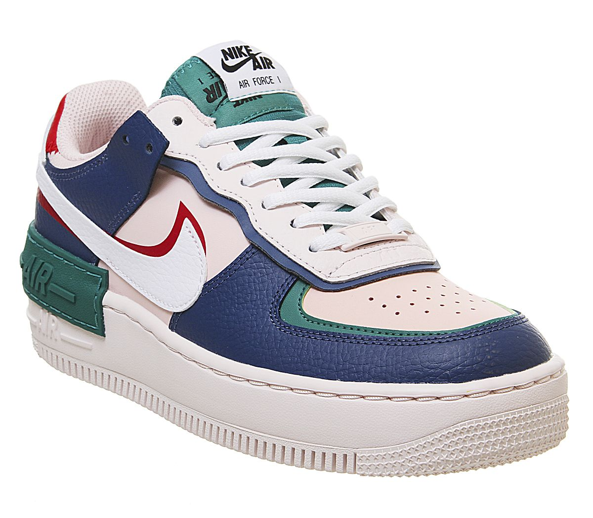 Nike Air Force 1 Shadow Trainers Mystic Navy White Echo Pink