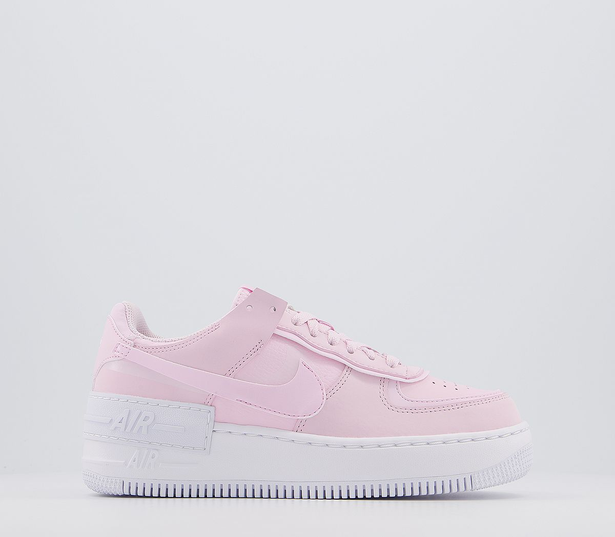 Nike Air Force 1 Shadow Trainers Pink Foam White Hers Trainers