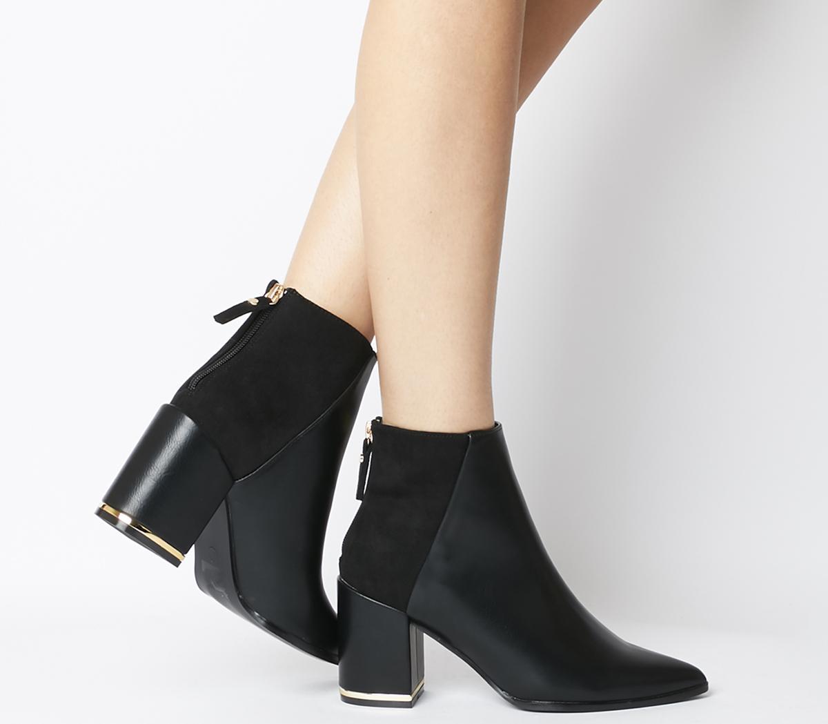Astounding Block Heel Point Boots