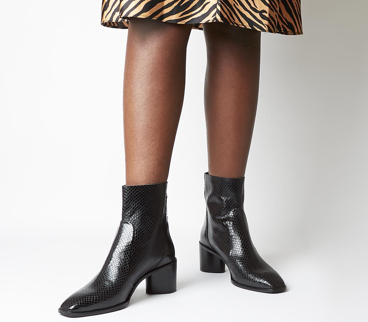 Achilles Unlined Block Heel Boots