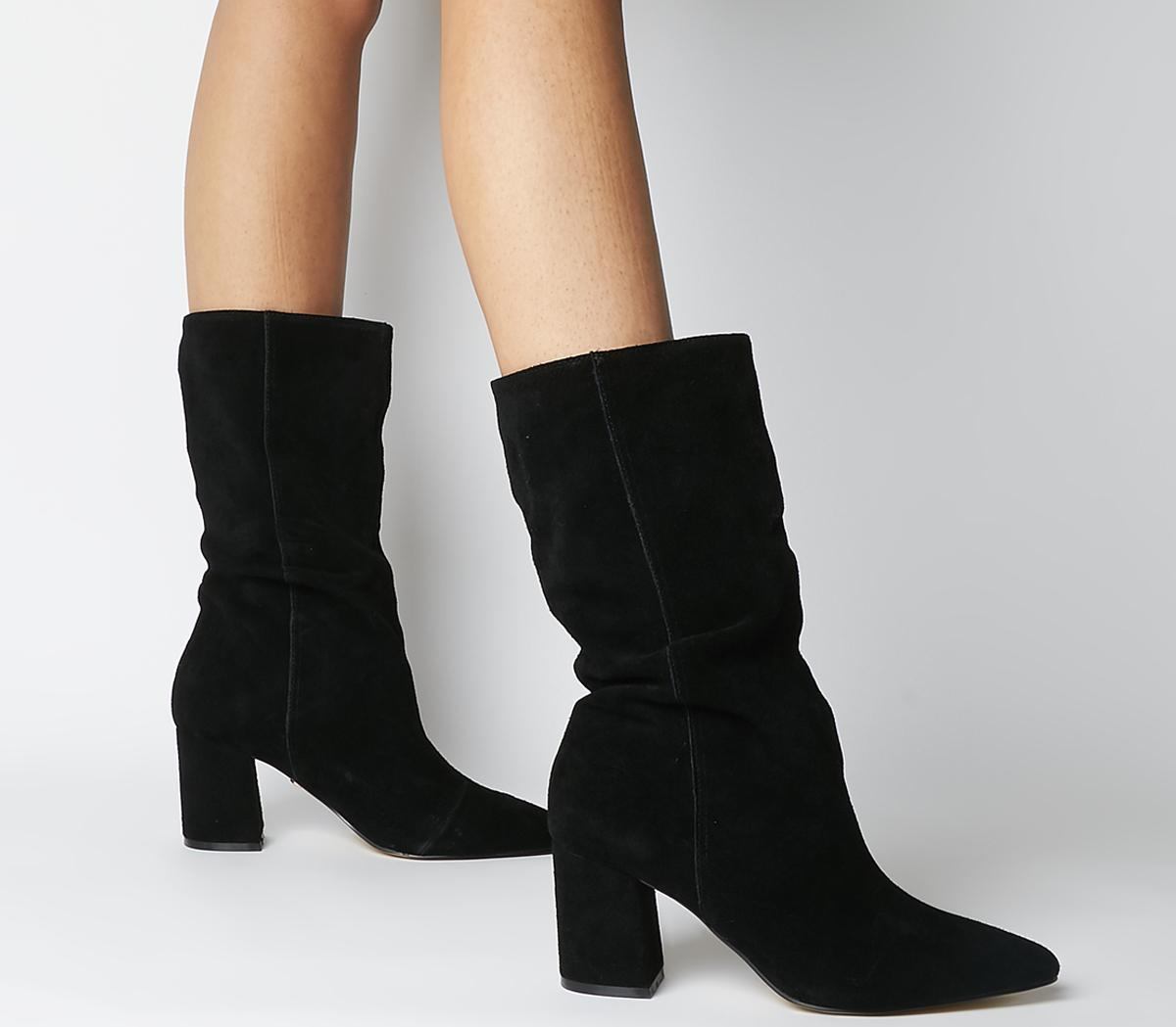 Karla Pointed Block Calf Boots