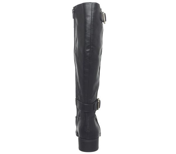 Office Kane Buckle Detail Riding Boot Black - Knee High Boots sGVerLx
