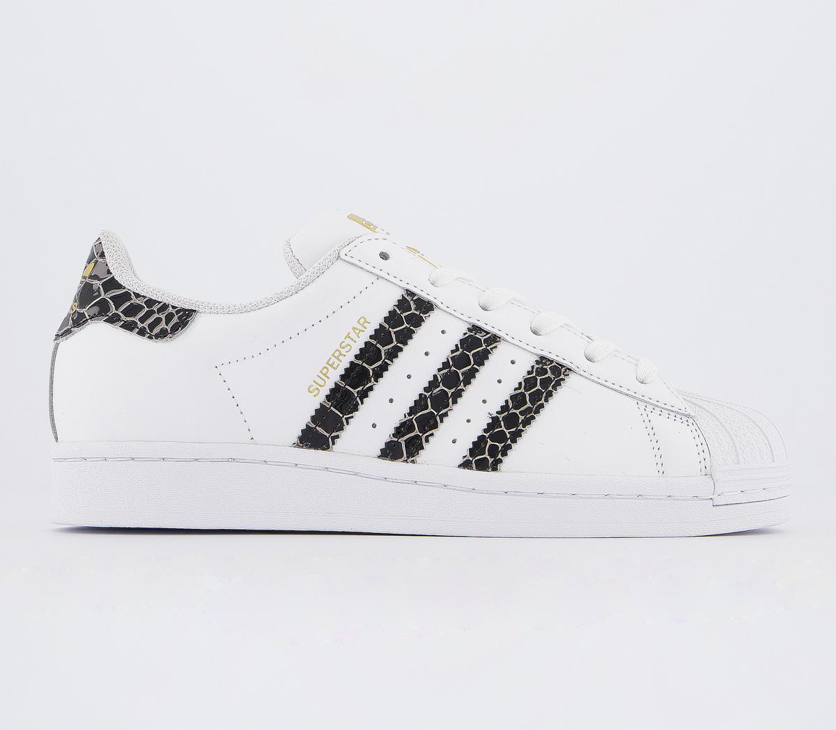 adidas Superstar Trainers White Black