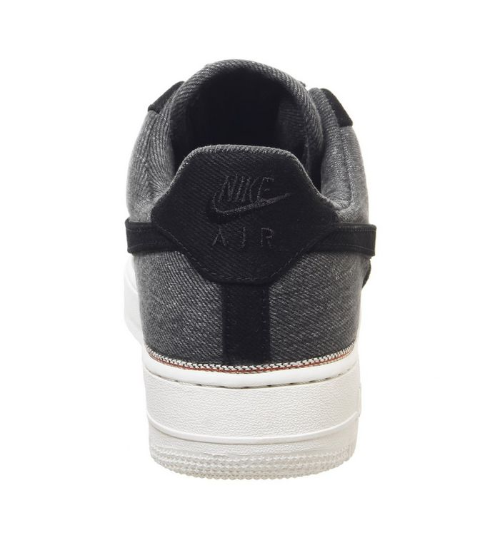 743fa5ec44 Nike Air Force 1 '07 Prm Trainers Black Black Summit White - His ...