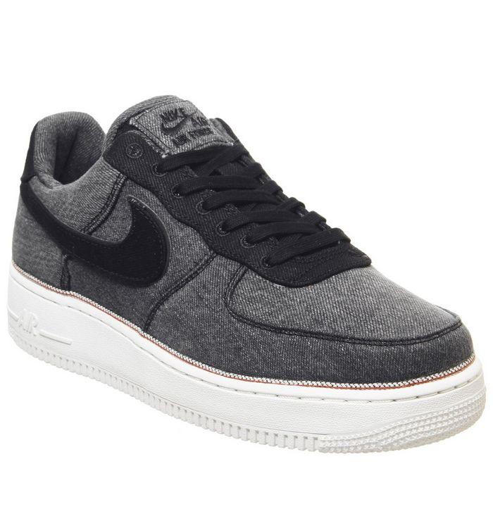 3325a7f313 ... Nike, Air Force 1 '07 Prm Trainers, Black Black Summit White ...