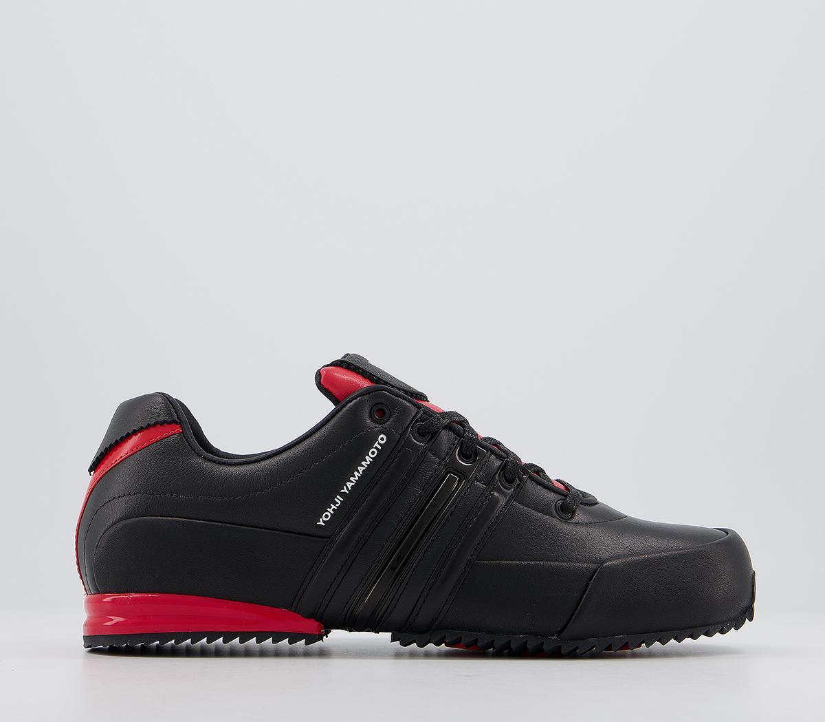 adidas Y3 Y-3 Sprint Trainers Black Red
