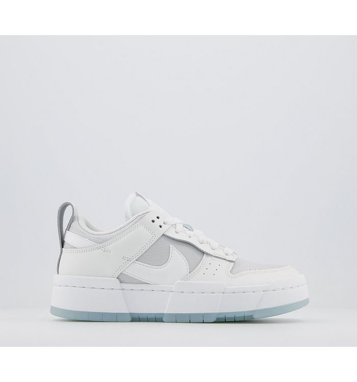 Nike Dunk Low Disrupt Trainers PHOTON DUST WHITE WHITE ARMORY BLUE,White,Grey