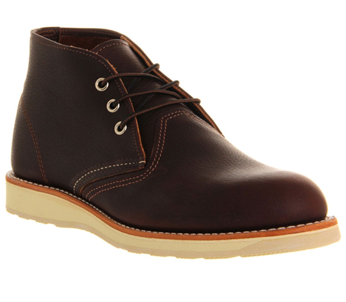 Redwing Work Chukka Boots Brown Leather Boots
