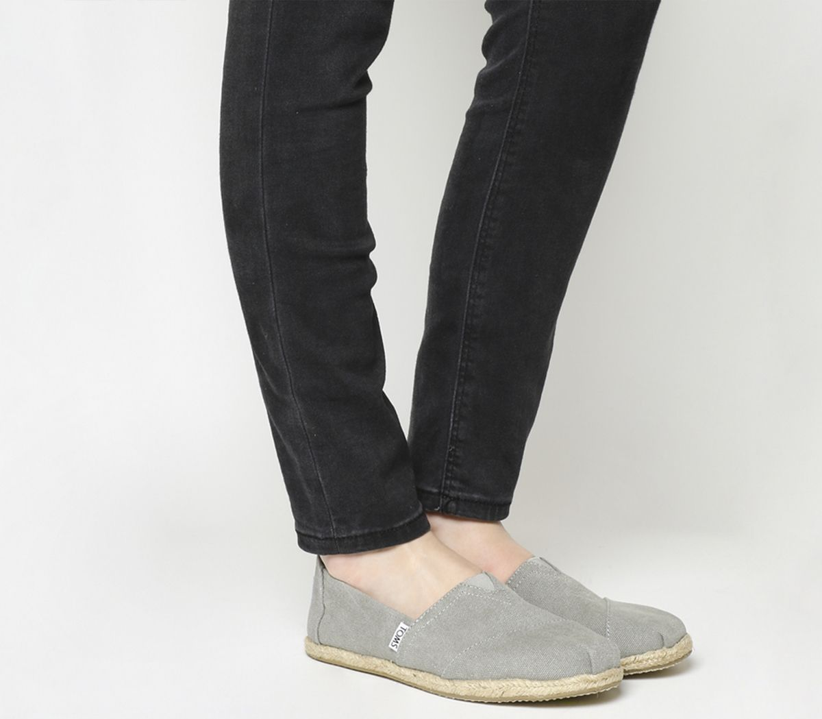 969acad9ff Toms Seasonal Classic Slip On Drizzle Grey Suede Rope Sole - Flats