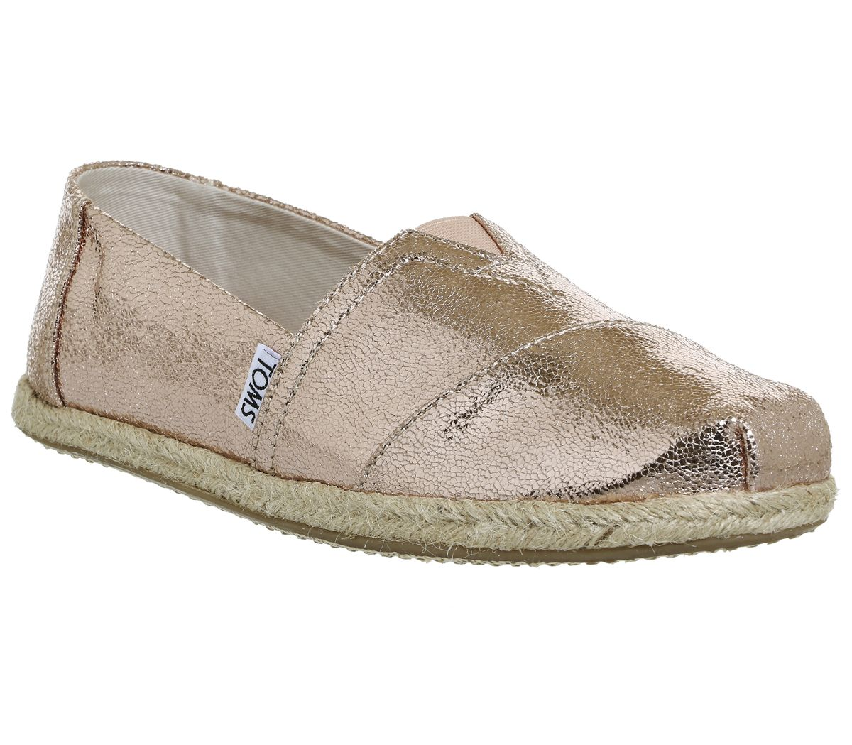 6d49e1ab790 Toms Seasonal Classic Slip On Rose Gold Metallic Exclusive - Flats