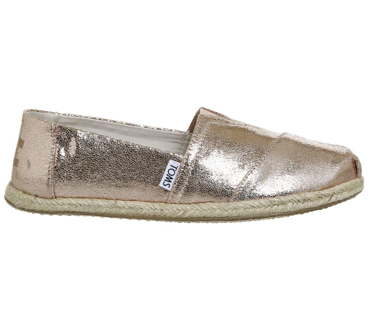 5c93232a34d Toms Seasonal Classic Slip On Rose Gold Metallic Exclusive - Flats