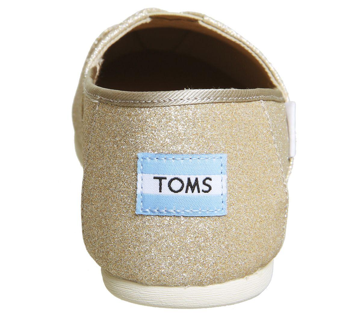 2880a1e3606 Toms Seasonal Classic Slip On Rose Gold Glimmer - Flats