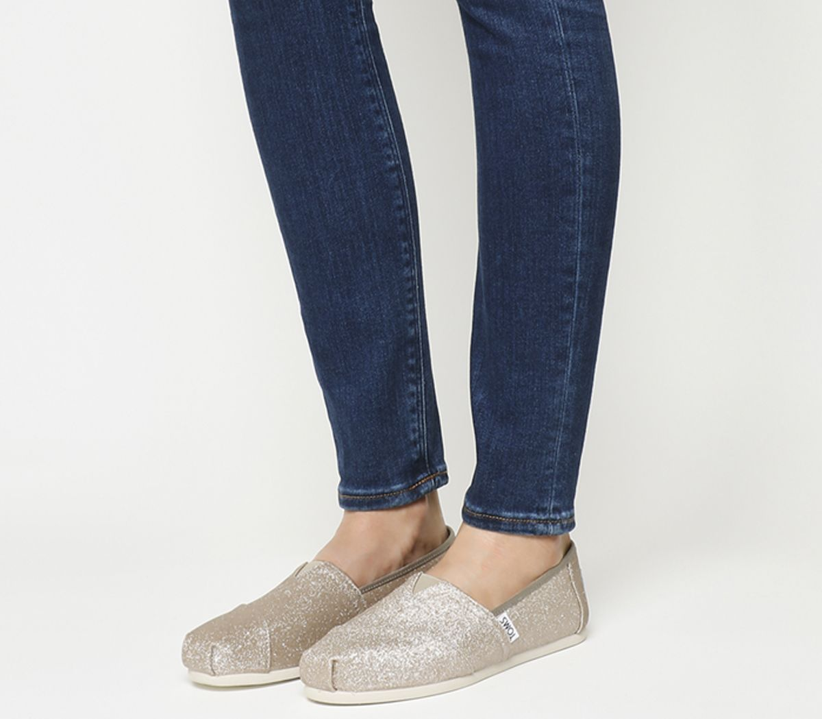 106cb6663fb Toms Seasonal Classic Slip On Rose Gold Glimmer - Flats