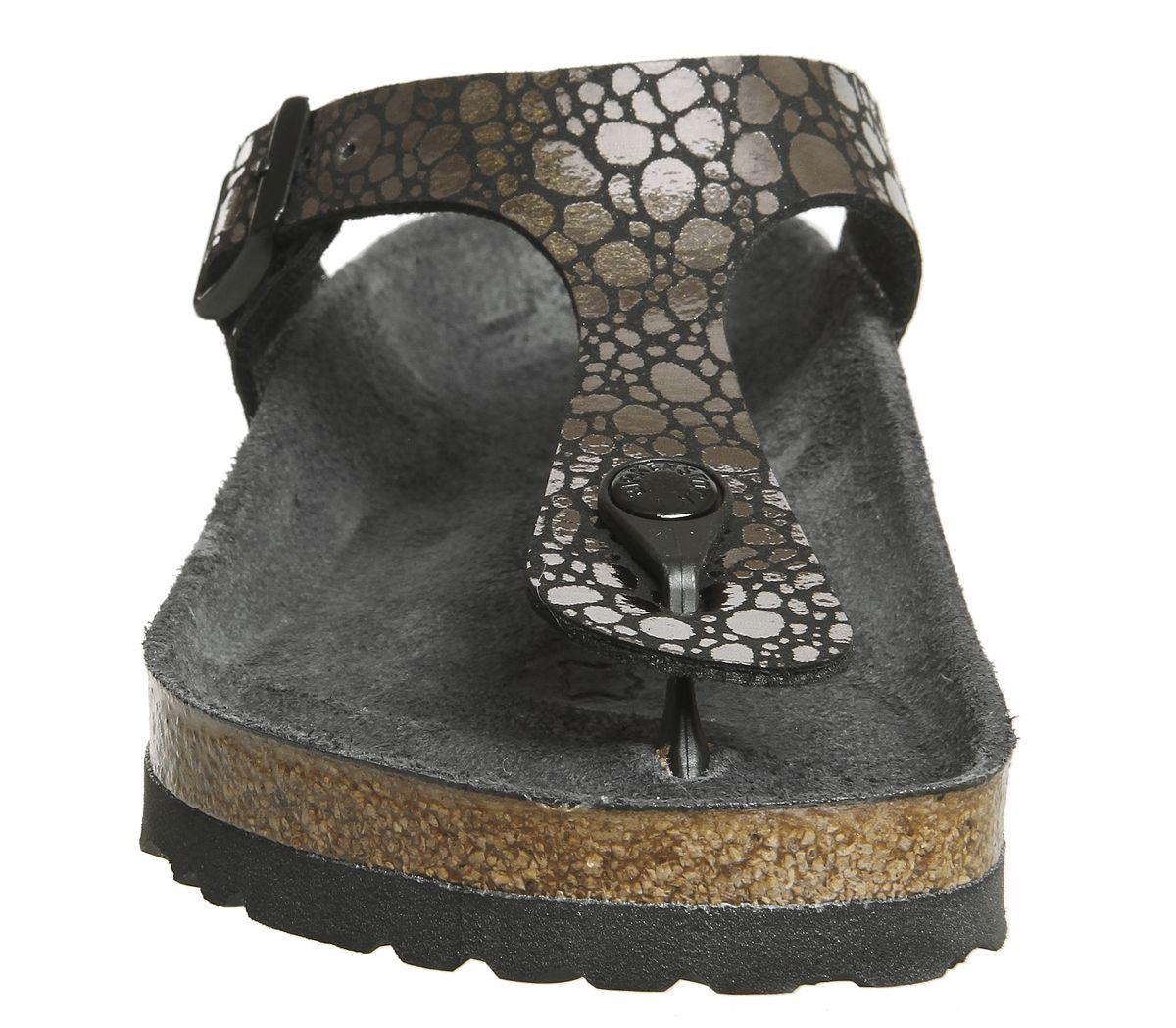 7255d5a62cac Birkenstock Gizeh Toe Thong Sandals Metallic Stones Black Exclusive ...