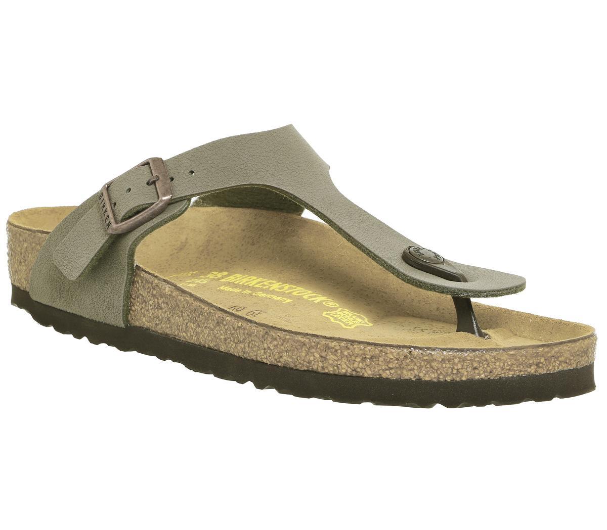 21ef07e58a6eb Birkenstock Toe Thong Footbed Sandals Stone - Sandals