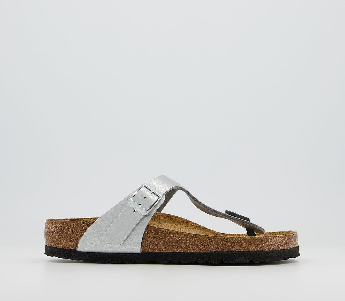 b7417cb17407 Birkenstock Gizeh Toe Thong Footbed Silver Syn - Sandals