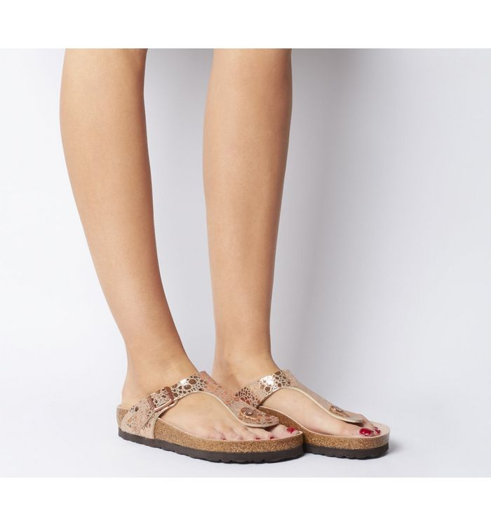 e5f77b842f2b Birkenstock Gizeh Toe Thong Footbed Silver Syn - Sandals