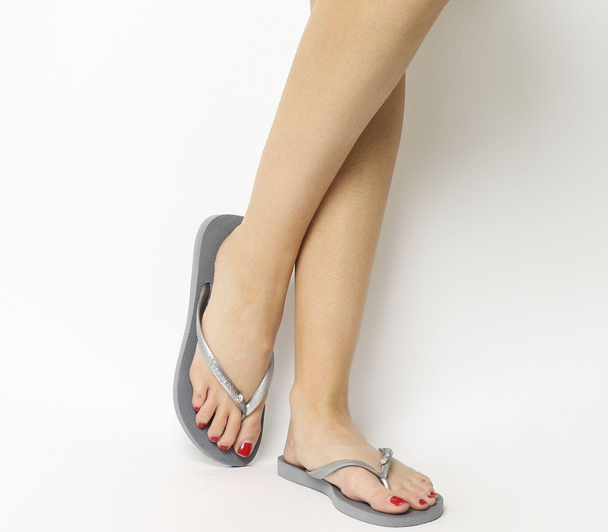 f0a7909aa Havaianas Slim Crystal Glamour Steel Grey - Sandals