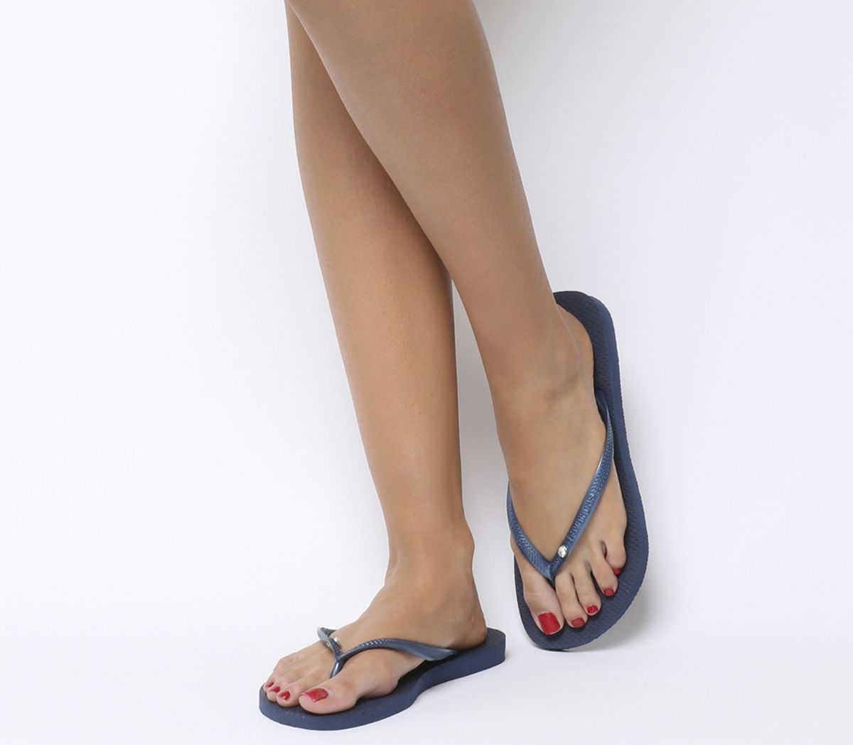 e5a8b1c8f Havaianas Slim Crystal Glamour Navy Rubber - Sandals