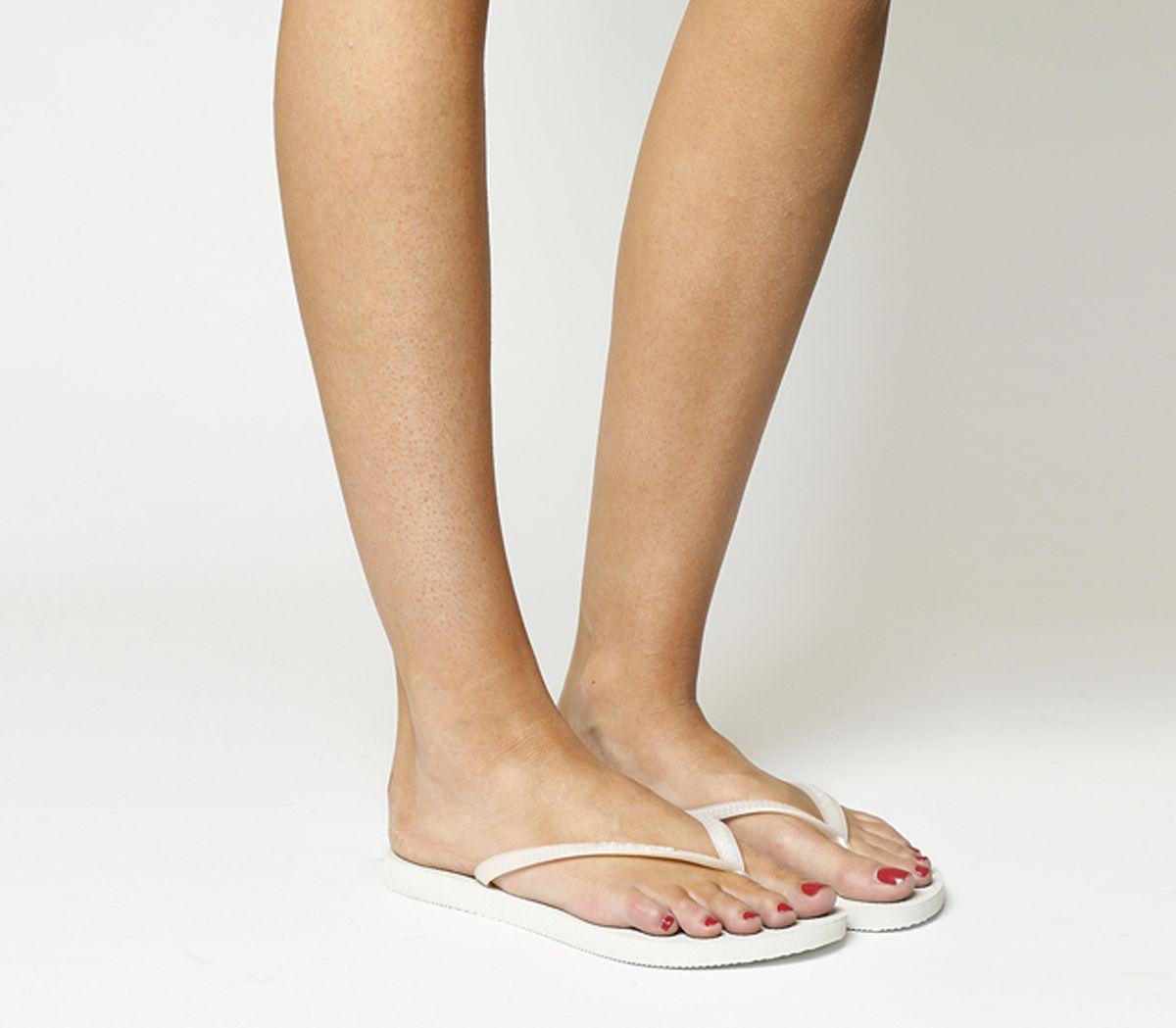 9e2dff6242d2 Havaianas Slim Flip Flop White - Sandals
