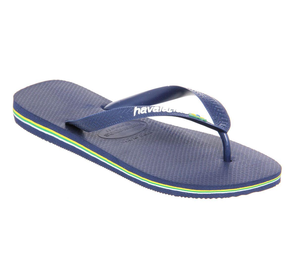 d35d5145e73b Havaianas Brasil Logo Navy Blue - Sandals