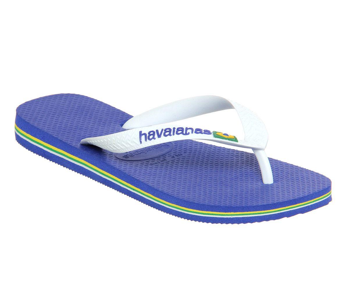 763227929 Havaianas Brasil Logo Marine Blue Rubber - Sandals
