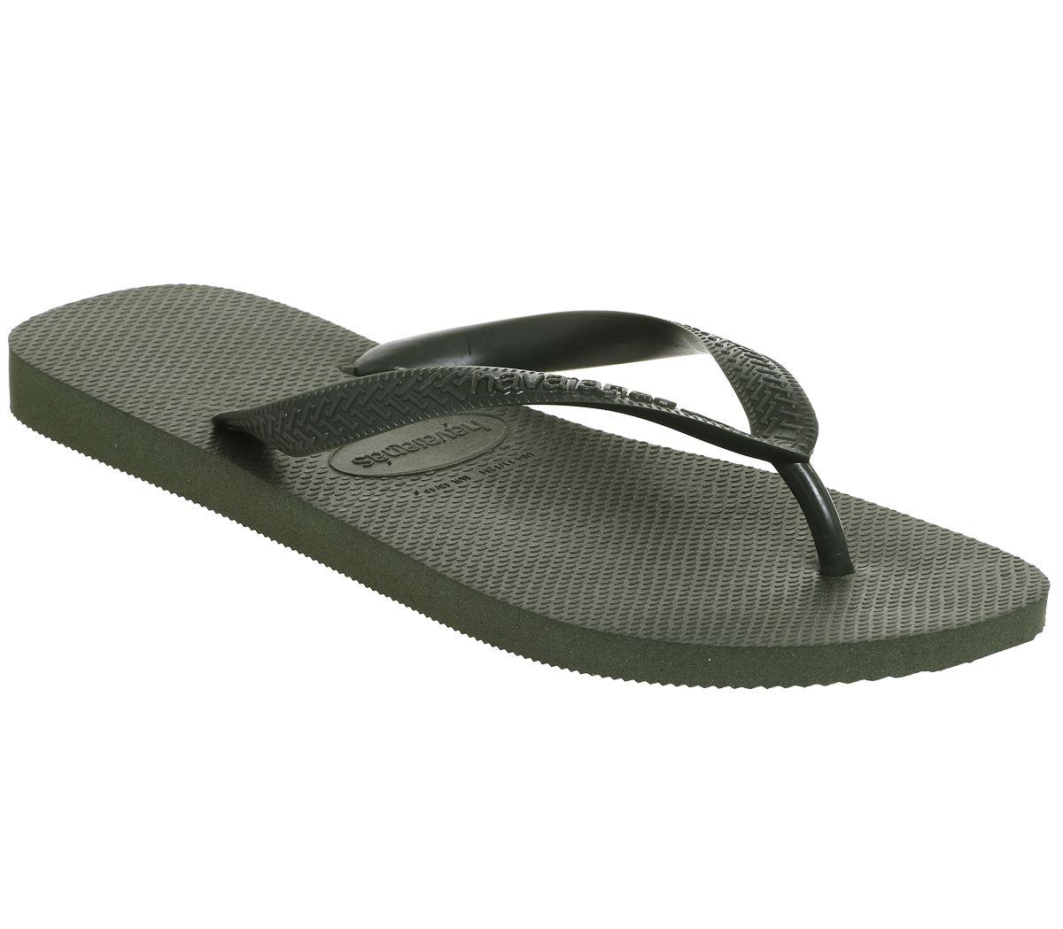 3f580a9ea Havaianas Top Flip Flops Olive Green - Sandals