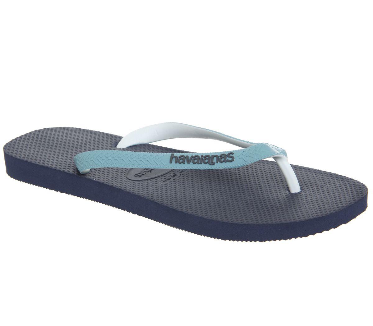 435dbbf9d Havaianas Havaianas Top Mix Flip Flops Navy Aqua - Sandals