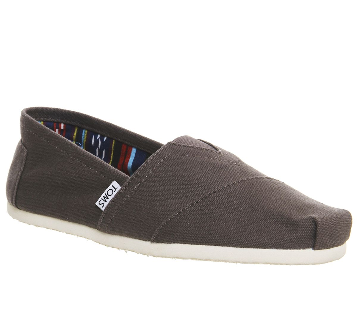 8a537838ae Toms Classic Slip Ons Ash Canvas - Casual