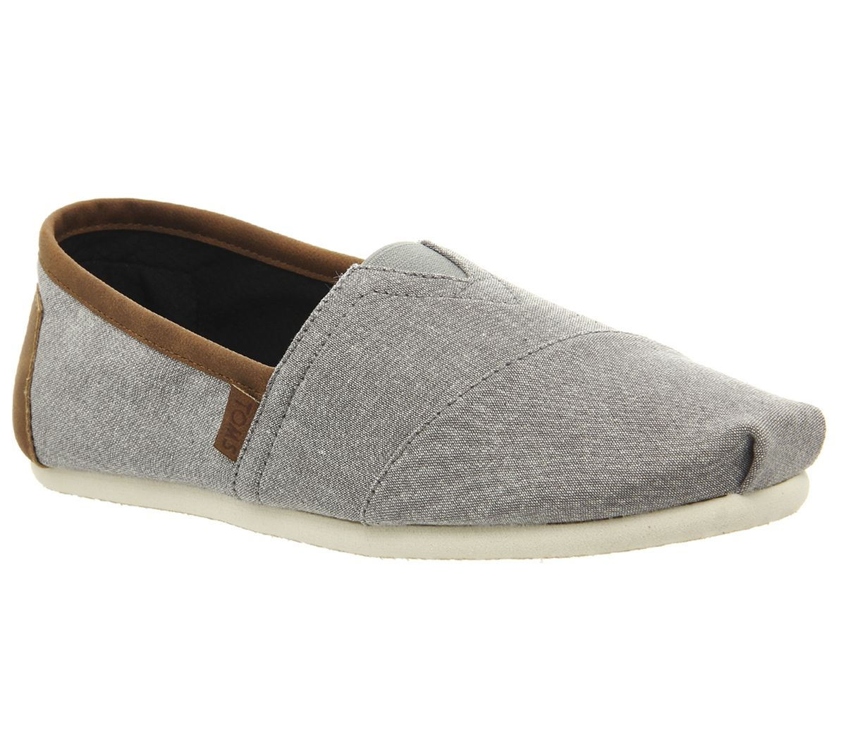 e786ad905e78 Toms Classic Slip Ons Frost Grey Chambray Exclusive - Casual