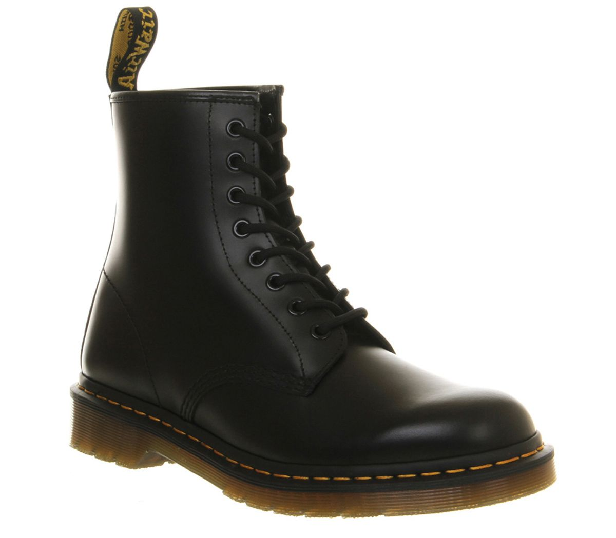 707a7c3ca4283 Dr. Martens 8 Eye Lace Boots Black Leather - Boots
