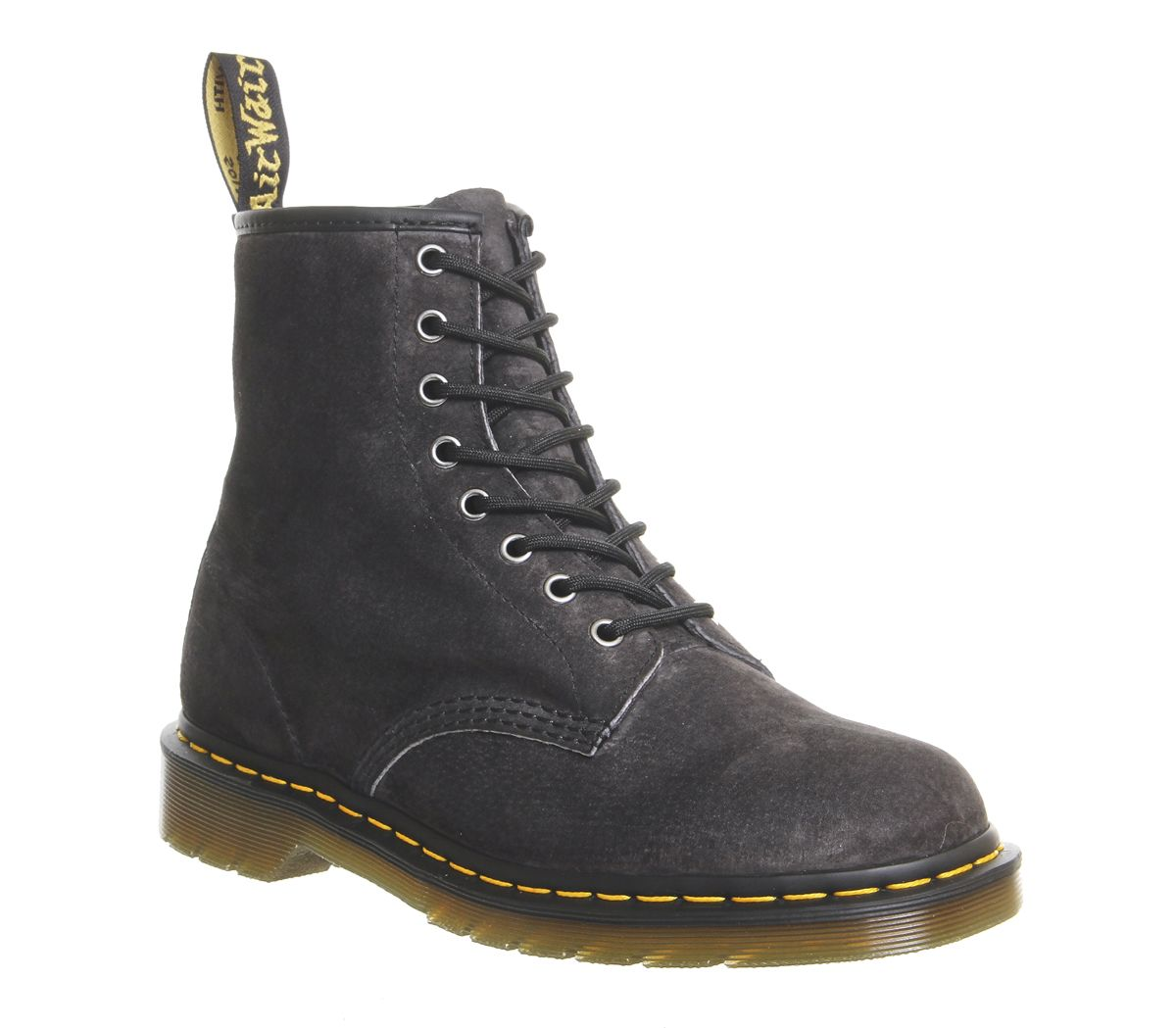 a0f05b5ed04 Dr. Martens 8 Eye Lace Boots Graphite Grey Soft Buck - Boots
