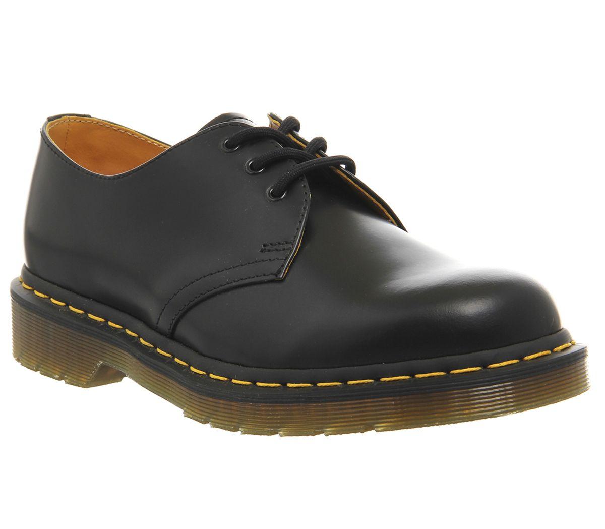 f988093c9f Dr. Martens 3 Eye Lace Shoes Black Leather - Smart