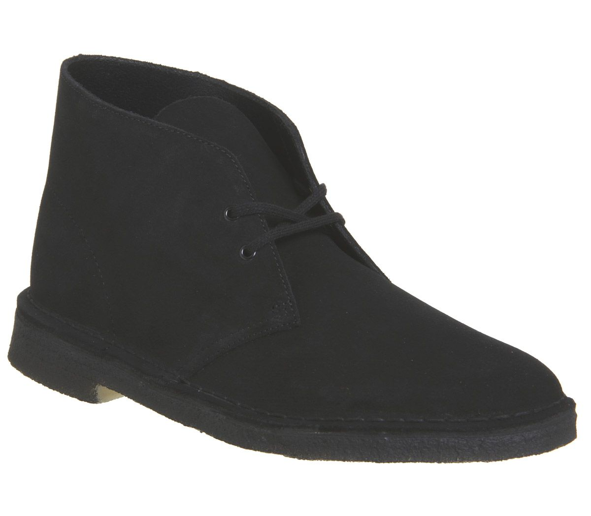 outlet store ac4ed 6ed7a Clarks Originals Desert Boots Black Suede New - Boots