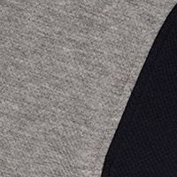 GREY MELANGE/NAVY