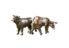 2 Koeien met kalfje (zwart)