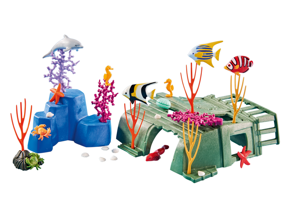 Coral Reef with Sea Creatures