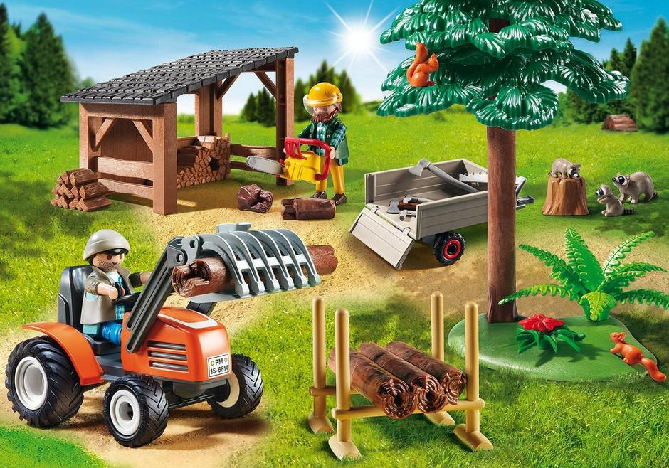 Lumber Yard with Tractor 6814