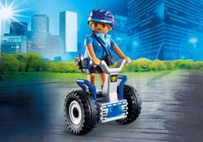 Politieagente met balans racer