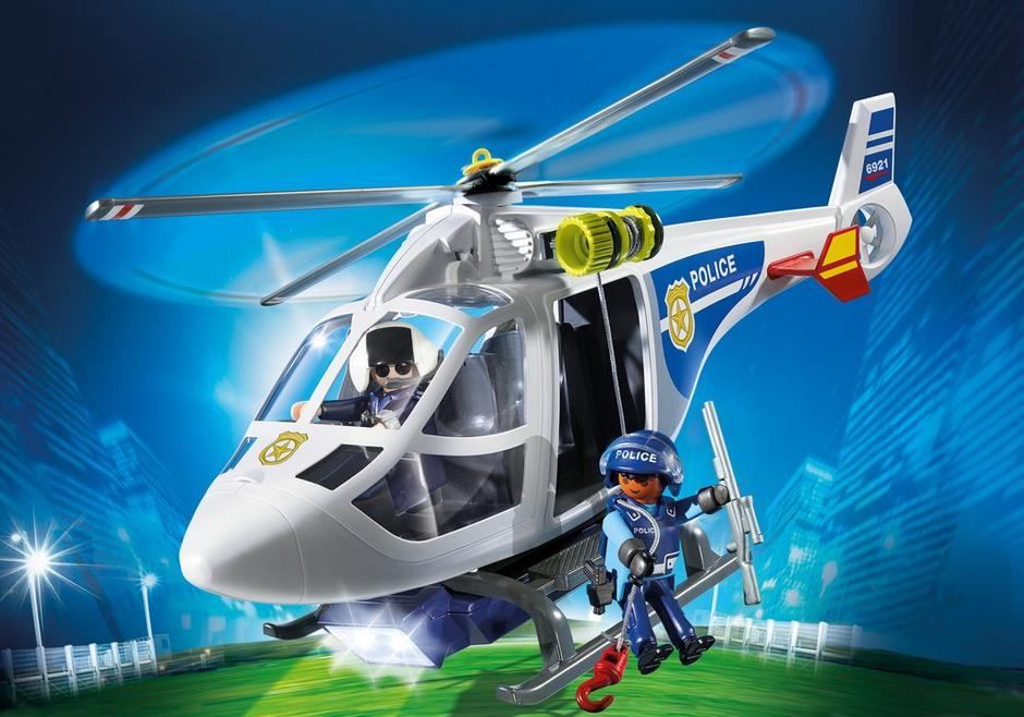 Police Helicopter with LED Searchlight 6921