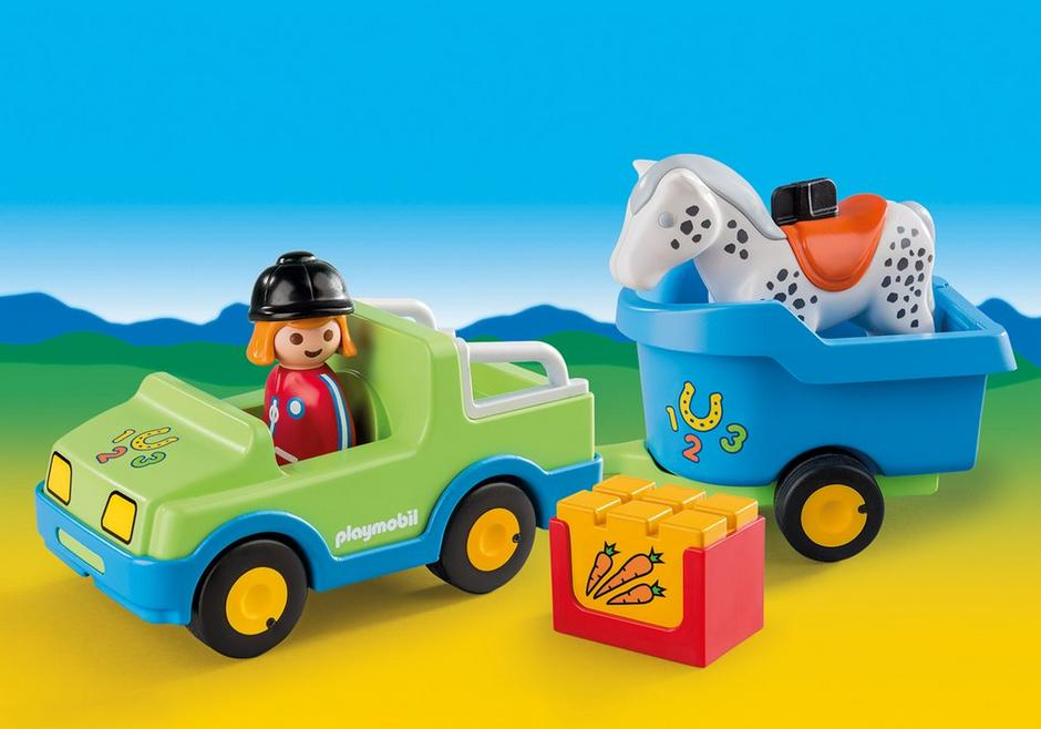 Car with Horse Trailer 6958