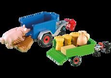 2 Aanhangwagens voor tractor