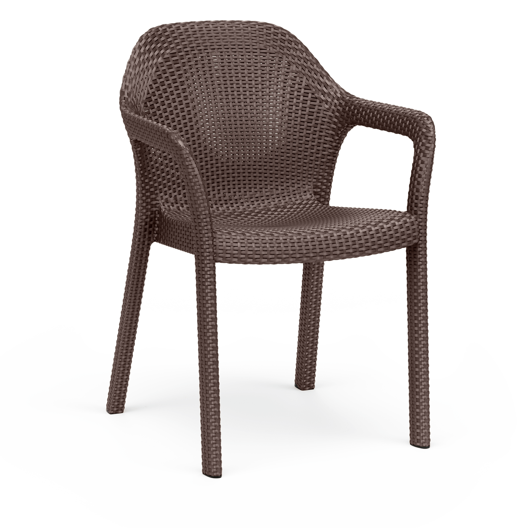 Chaise empilable moka