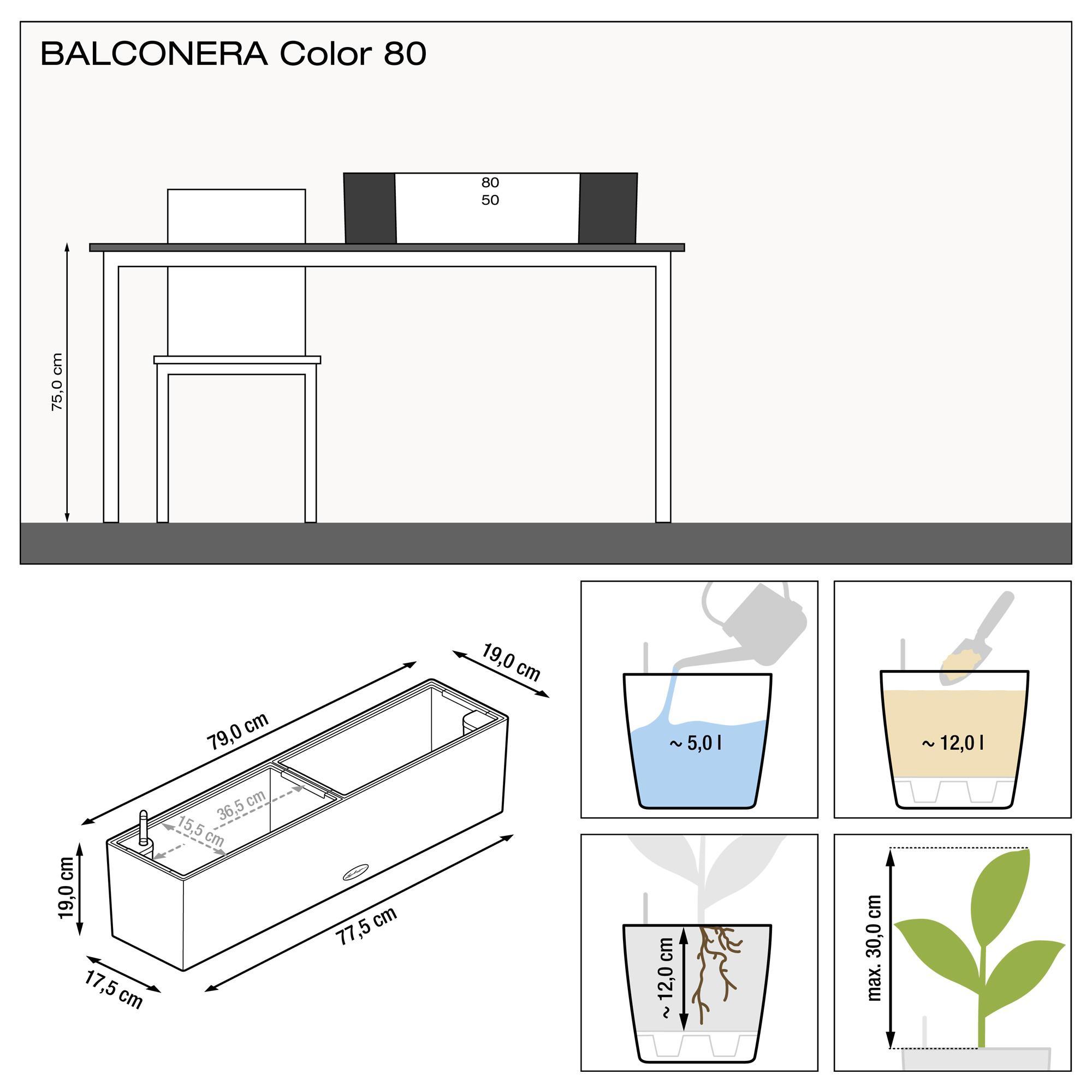 BALCONERA Color 80 gris ardoise - Image 3