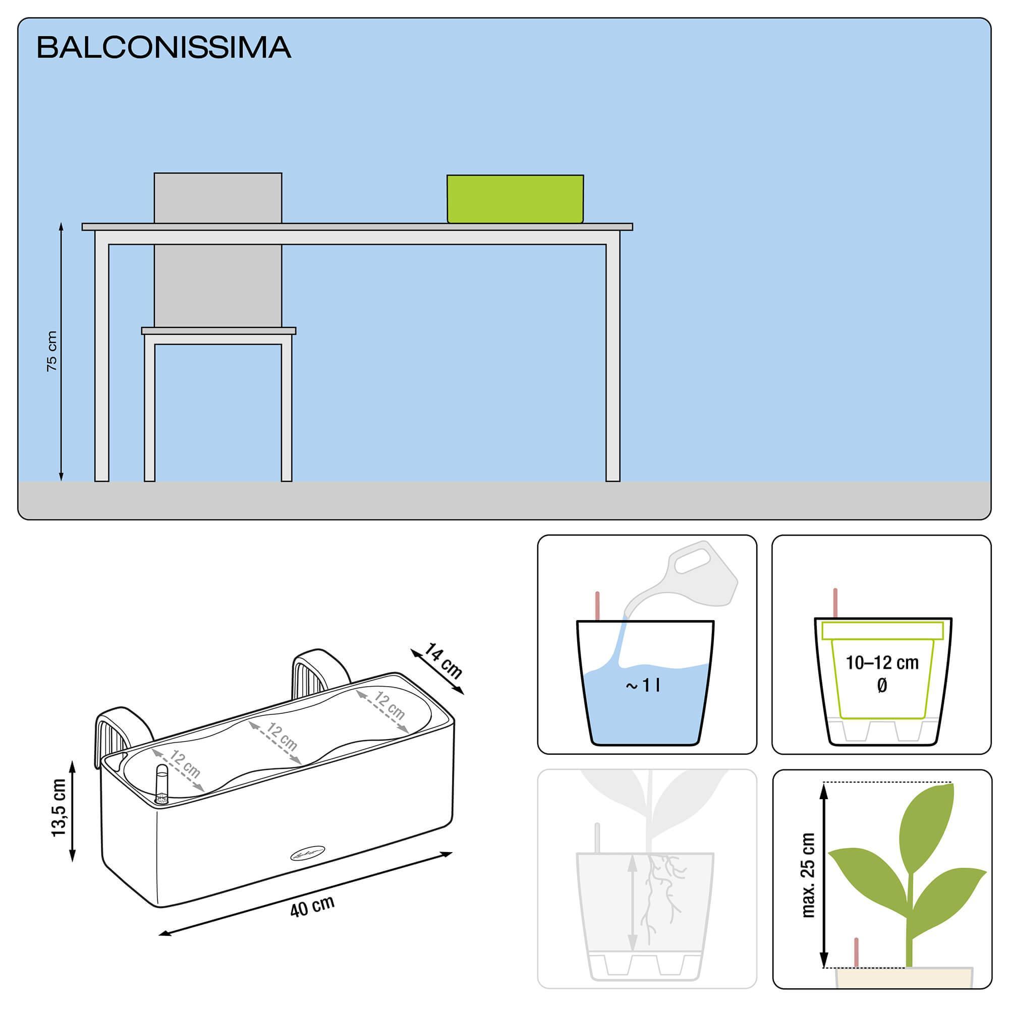 BALCONISSIMA Color ardesia - Immagine 2