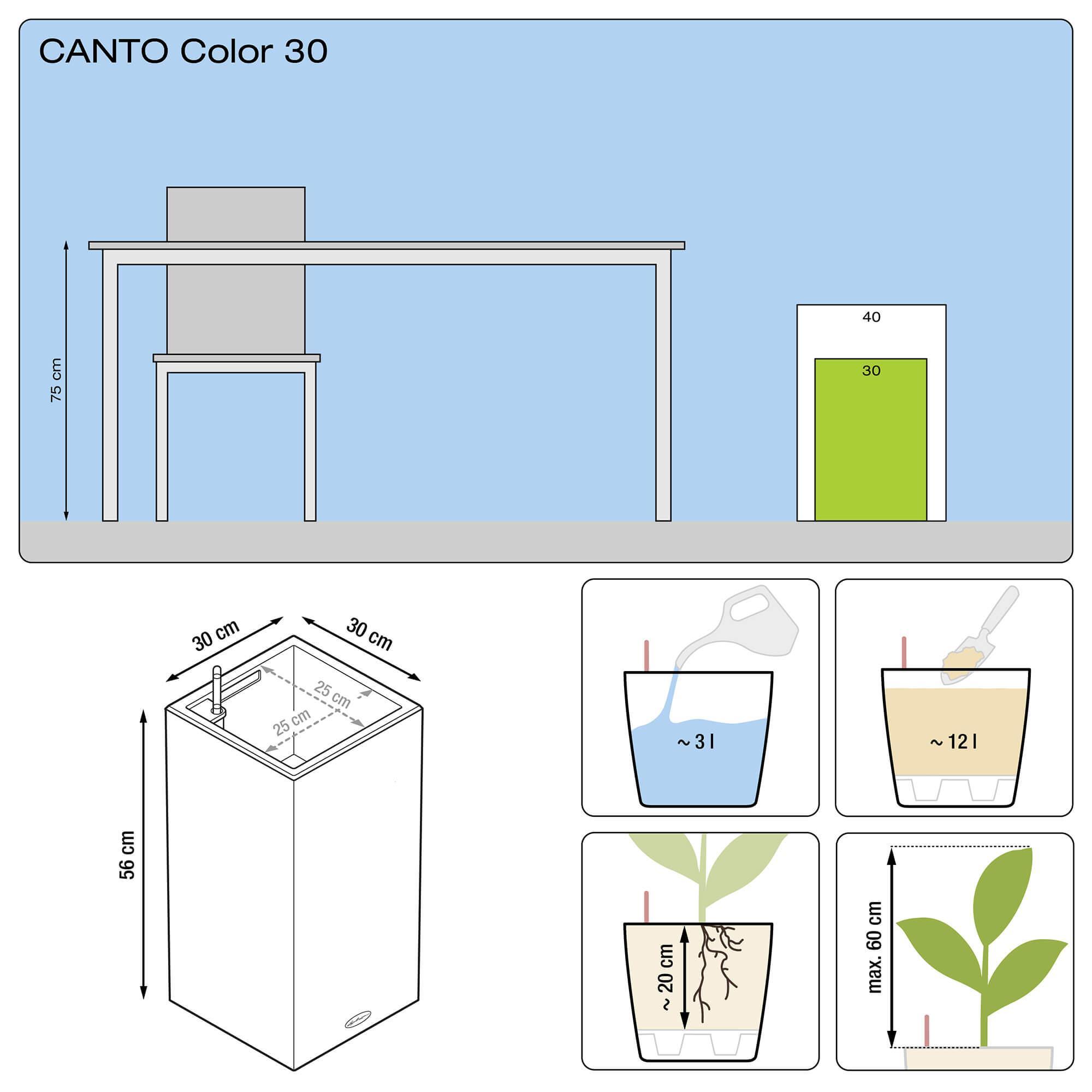 CANTO Color a colonna 30 grigio pietra - Immagine 3