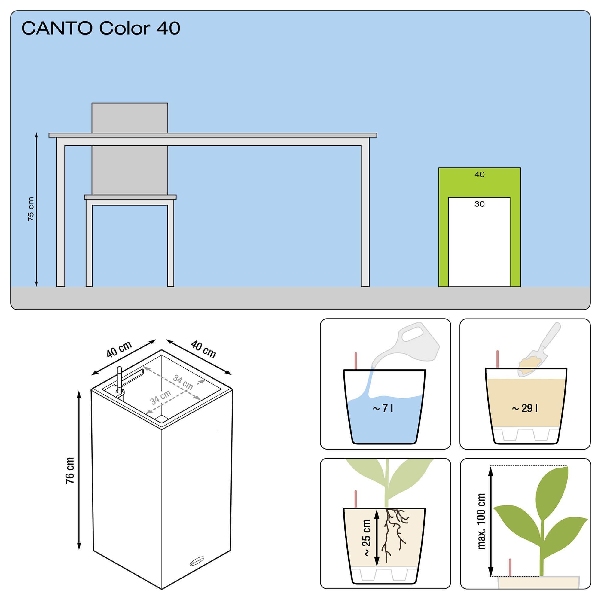 CANTO Color Colonne 40 gris pierre - Image 3